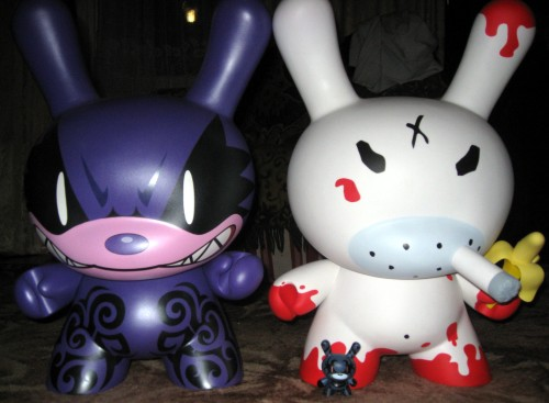 Two big dunny & small
